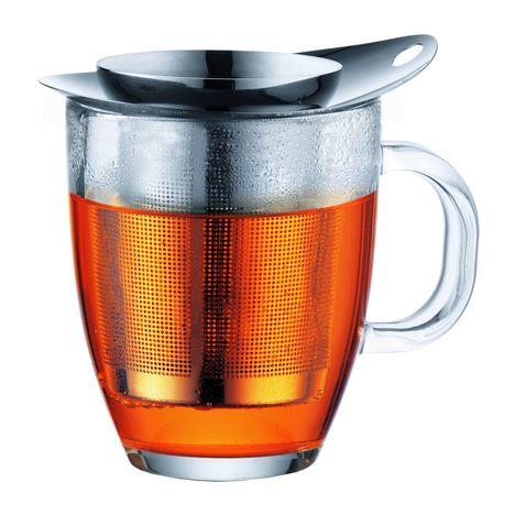 BODUM Mug verre + filtre inox NEW YO-YO SET K11239-16 - Transparent