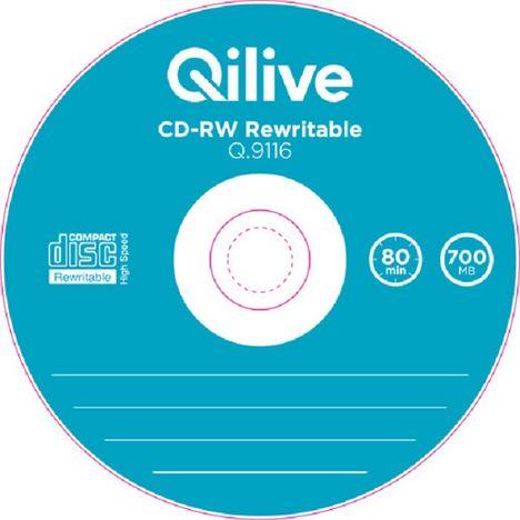 QILIVE Lot de 5 CD-RW 700MB SlimLot de 5 CD-RW 700MB Slim