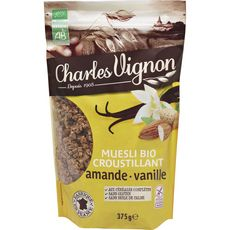 CHARLES VIGNON Muesli bio croustillant amandes vanille 375g