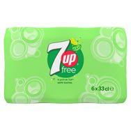7UP Zero citron & citron vert 6 x 33cl