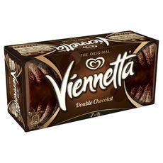 Viennetta dessert glace double chocolat 7 parts 341g