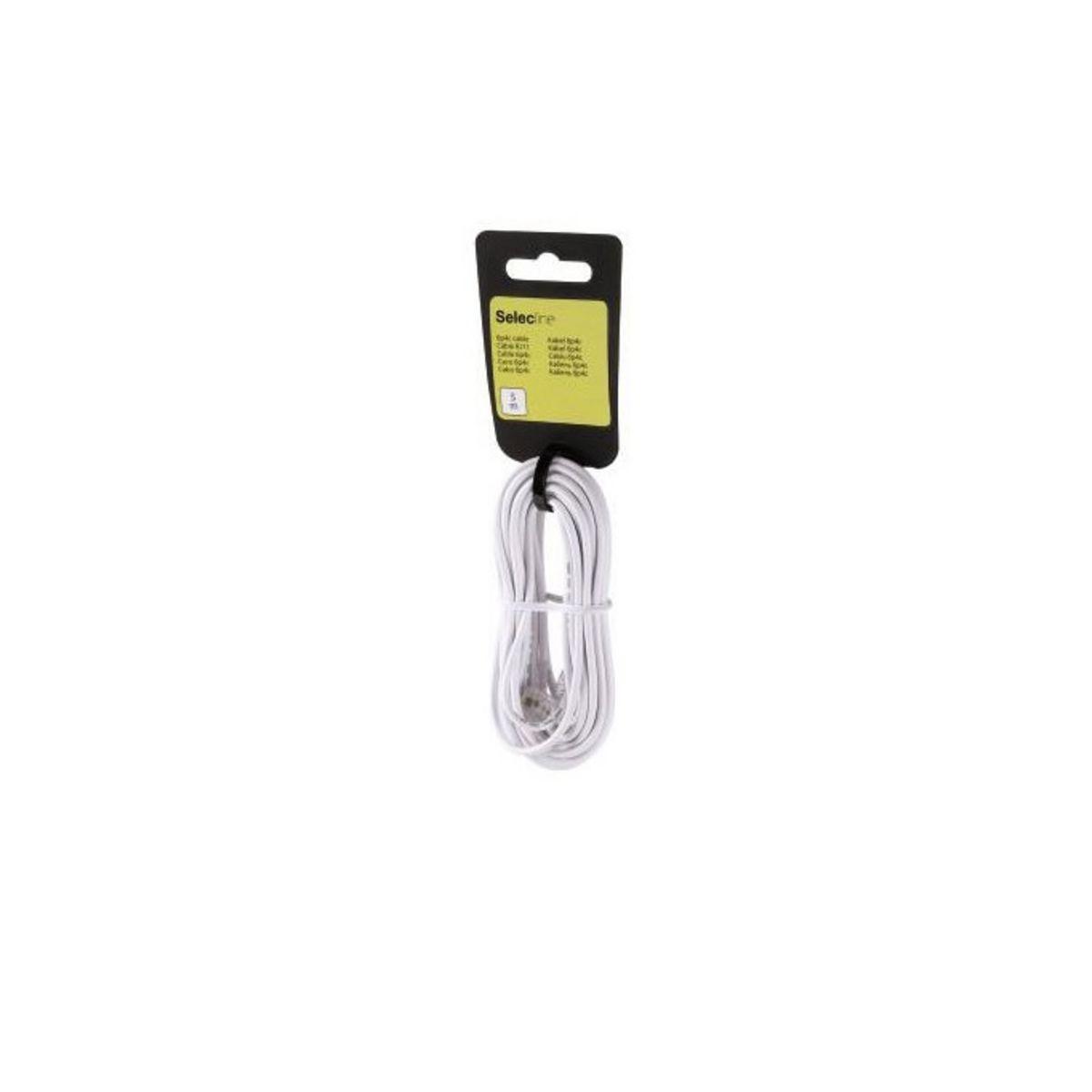 SELECLINE Accessoires Téléphone Résidentiel Cable RJ11 Blanc