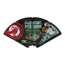 AUCHAN Portions de roquefort AOP 4 portions 4x25g