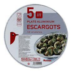 AUCHAN Plats aluminium pour 12 escargots 5 plats