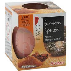 AUCHAN Bougie anti-tabac senteur orange cannelle 1 bougie