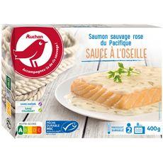 AUCHAN Saumon sauce à l'oseille MSC 2 portions 400g