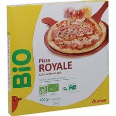 AUCHAN BIO Pizza royale cuite au feu de bois 400g