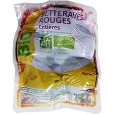 Auchan bio Betteraves rouges entières cuites 500g