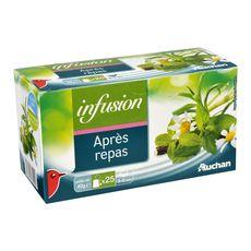 Auchan infusion après repas sachet x25 -40g