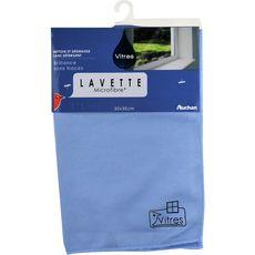 AUCHAN Lavette microfibre spéciale brillance 35x35cm 1 lavette