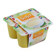 AUCHAN Dessert végétal au soja et à la vanille 4x100g 4x100g