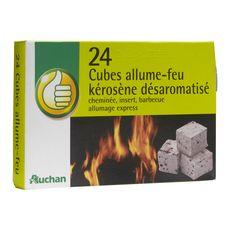 POUCE Pouce Allume-feu en cubes au kérosène désaromatisé x24 24 cubes