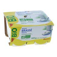 Auchan bio brassé nature 4x125g