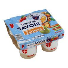 Auchan yaourt sur lit de fruit jaunes 4x150g
