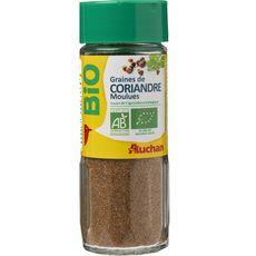 Auchan Bio Graines de coriandre moulues 35g