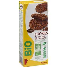 AUCHAN BIO Cookies tout chocolat 12 biscuits 175g