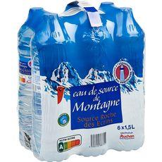 Auchan Eau de source montagne 6x1,5l