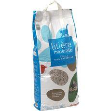 Auchan Litière minérale naturelle argile pour chat 16l