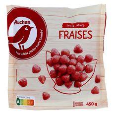 AUCHAN Fraises fruits entiers 450g