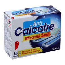 Auchan pastilles anti calcaire pour lave-linge 15g x15