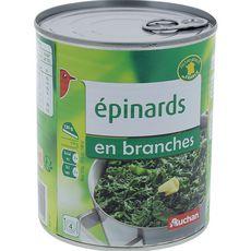 Auchan Epinards en branches 530g