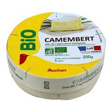 AUCHAN BIO Camembert moulé à la louche 250g