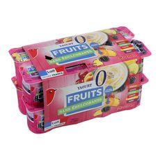 AUCHAN Yaourt allégé aux fruits 0% 16x125g