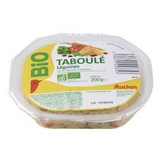 Auchan bio taboulé aux légumes 200g