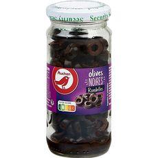 Auchan olives noires rondelles bocal 105g