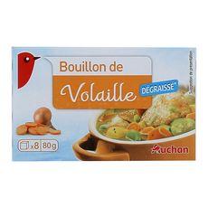 AUCHAN Auchan Bouillon de volaille dégraissé 80g 8 tablettes 80g