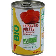 AUCHAN Tomates pelées entières au jus de tomates 240g