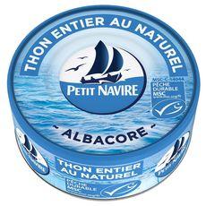 PETIT NAVIRE Thon albacore entier MSC au naturel 160g