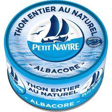 PETIT NAVIRE Thon albacore entier au naturel 93g