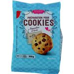 Auchan préparation pour cookies au chocolat 300g