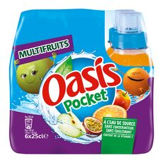 Oasis multifruits push pull 6x25cl