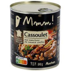 AUCHAN MMM! Cassoulet aux manchons de canard confits, fabriqué en Languedoc Roussillon 2 personnes 840g