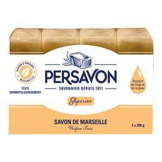 Persavon savon de Marseille glycérine testé dermato 4x200g