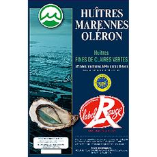 Huîtres marennes fine de clair n°3 label rouge 2x12 pièces 1,870kg