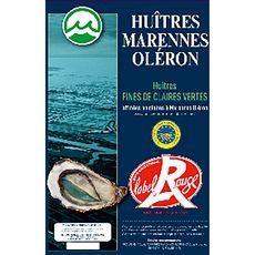 Huîtres Marennes fine de claire n°2 Label Rouge x18 -2kg