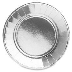 ACTUEL Actuel Assiettes unies métallisées 27cm argent x10 10 pièces
