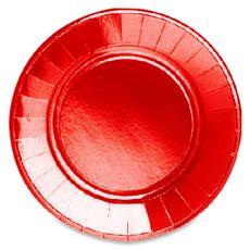 ACTUEL Actuel assiette ronde 22cm rouge métallisée x20