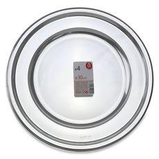 ACTUEL Actuel Sous assiettes 30cm en argent x4 4 pièces