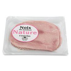 noix de jambon nature tranche x4 -160g