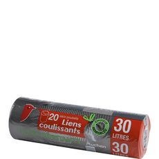 Auchan Sacs poubelle liens coulissants 30l x20