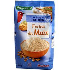 AUCHAN MIEUX VIVRE Farine de maïs sans gluten 500g