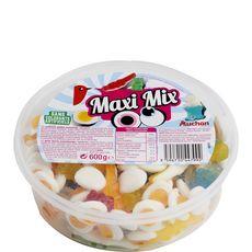 AUCHAN Maxi mix de bonbons gélifiées 600g