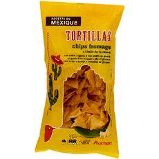 Auchan tortilla chips fromage à l'huile de tournesol 185g