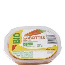 Auchan carottes râpées bio 200g
