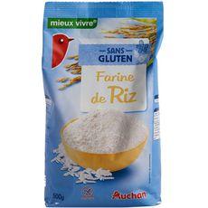 AUCHAN MIEUX VIVRE Farine de riz sans gluten 500g