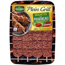 SOCOPA Socopa Plein Grill Brochettes de viande haché de boeuf provençale x4 -400g 4 pièces 400g